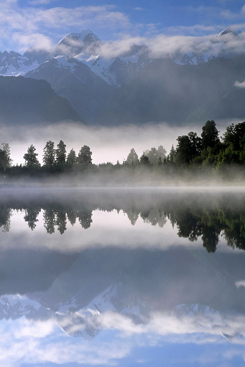 Lake Matheson New Zealand, reflections